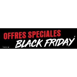 Banderole publicitaire BLACK FRIDAY NOIR