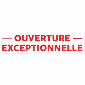 Banderole publicitaire ouverture exceptionnelle texte for Publication exceptionnelle