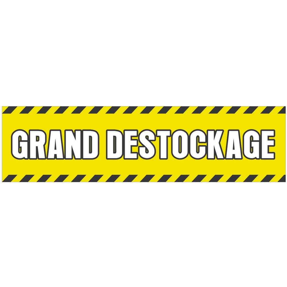 fa47d917fe7dea Banderole publicitaire - GRAND DESTOCKAGE - Fond jaune